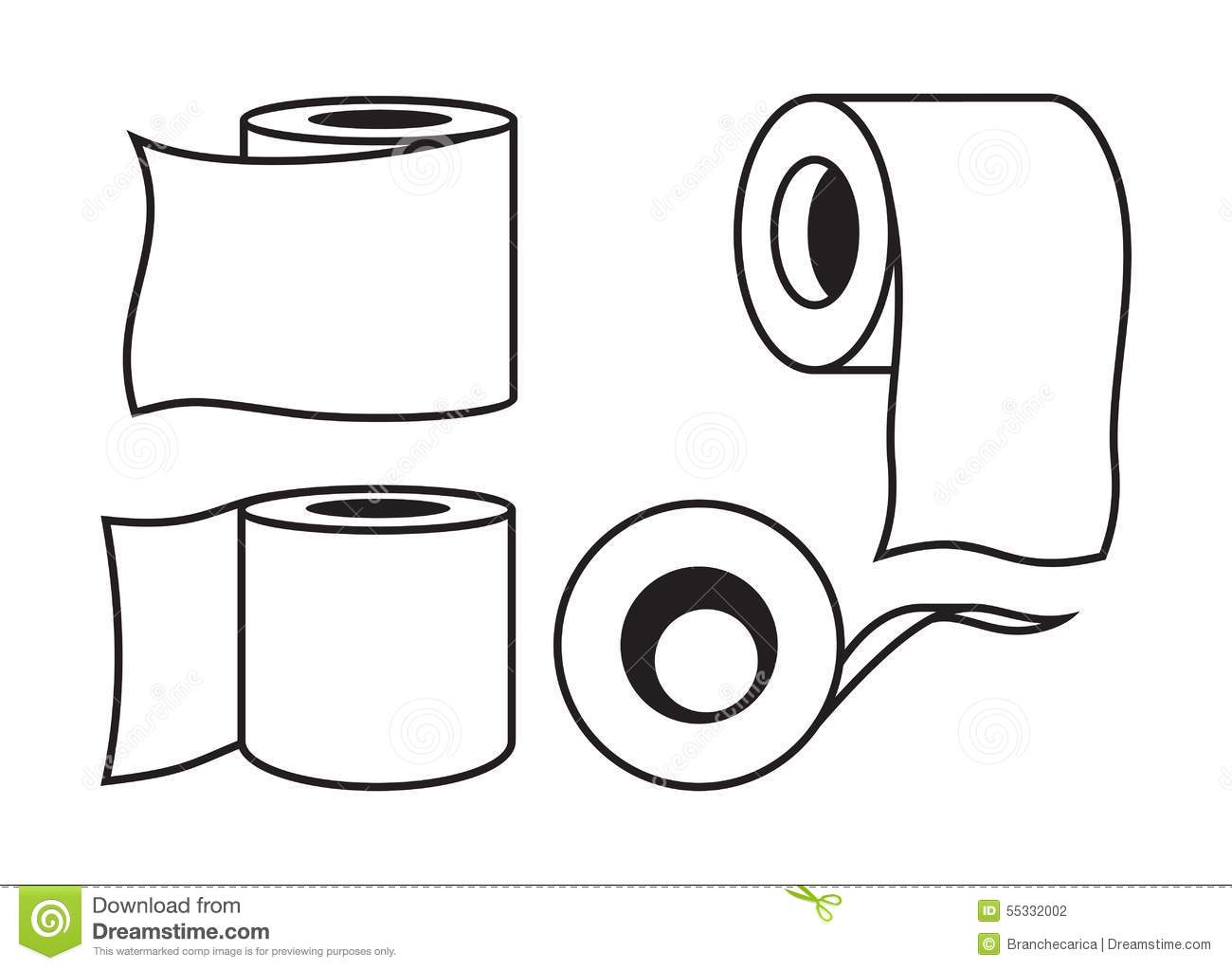 Toilet Paper Icon Stock Illustration Image Of Background