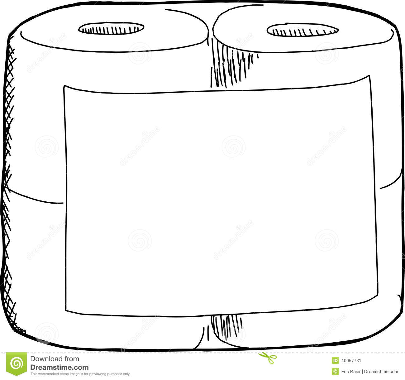 Toilet Paper Sketch Stock Vector
