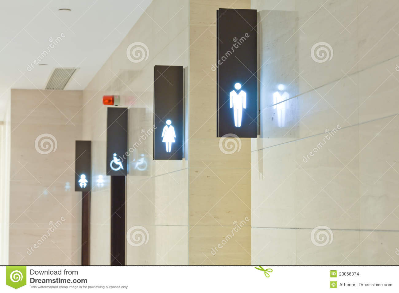 Toilet Sign Stock Images  Image 23066374