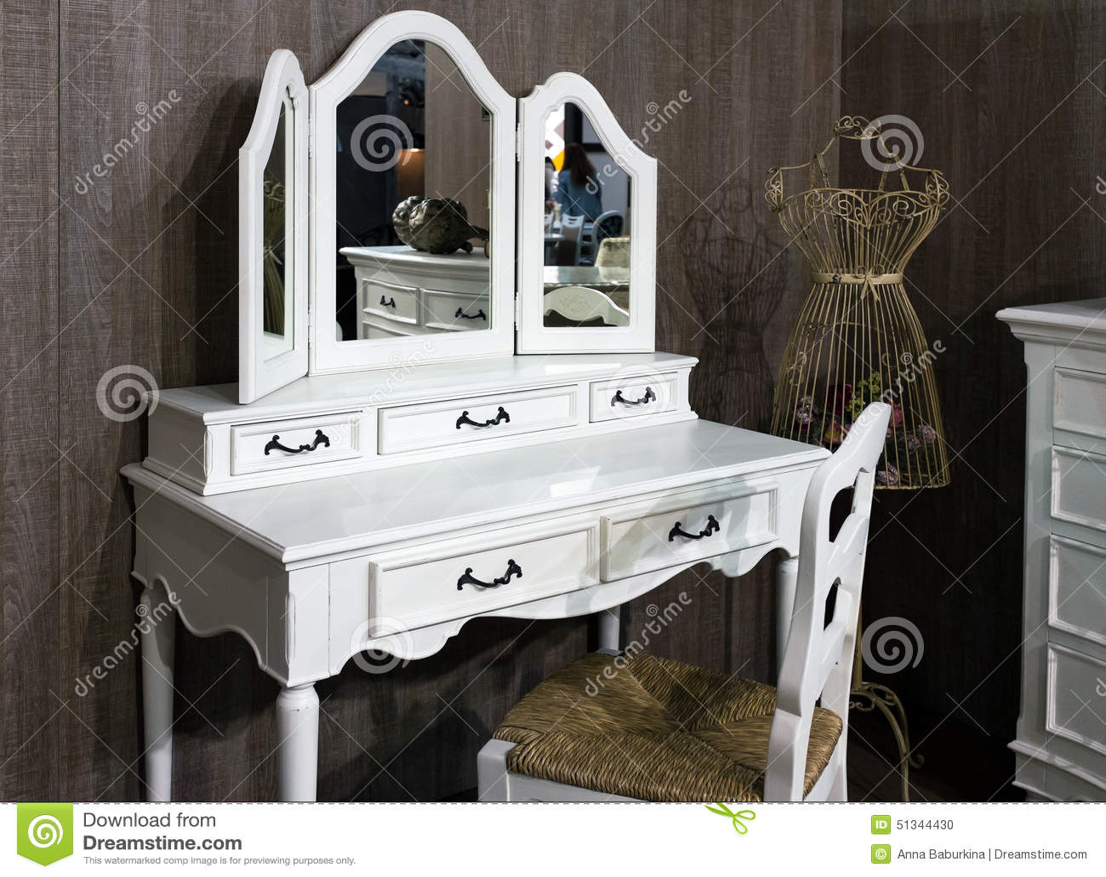 Toilet Table Stock Photo Image 51344430