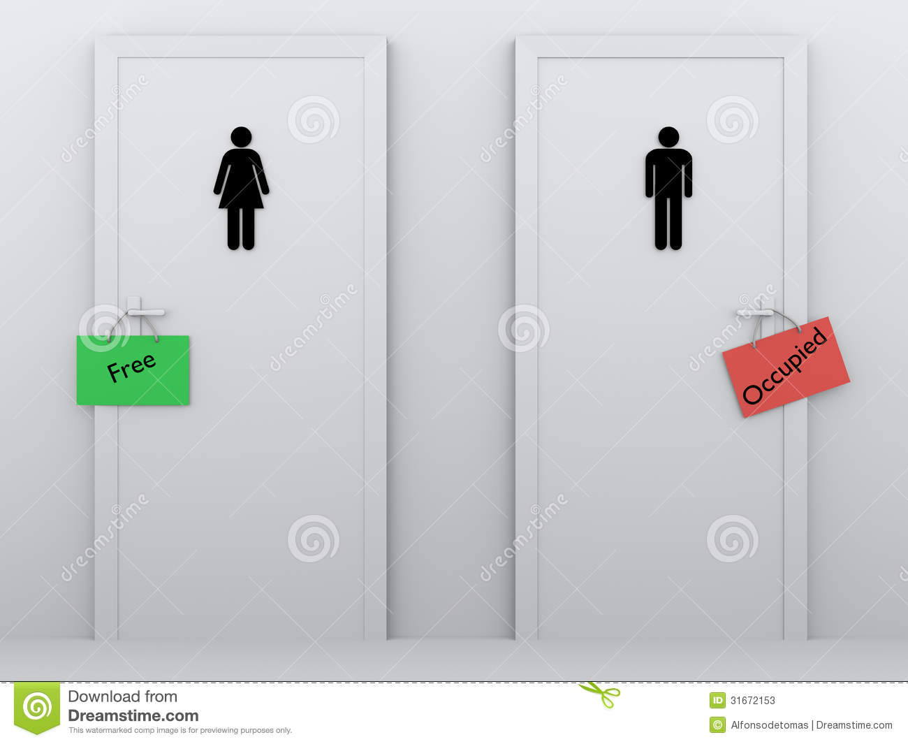 Toilets Occupied And Free Stock Photos  Image 31672153