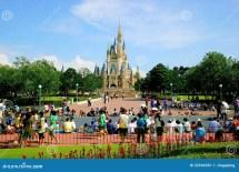 Tokyo Disneyland Cinderella Castle Main Building Editorial