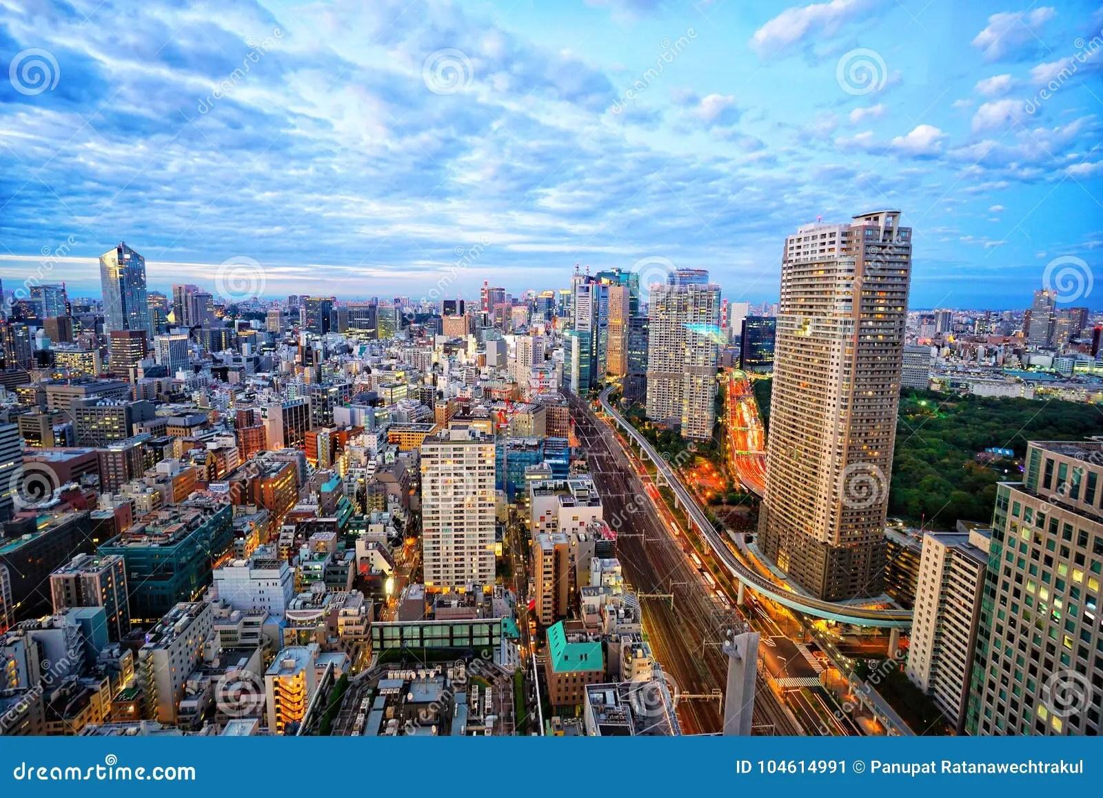 Tokyo Prima Del Paesaggio Della Citt Di Vista Di Notte