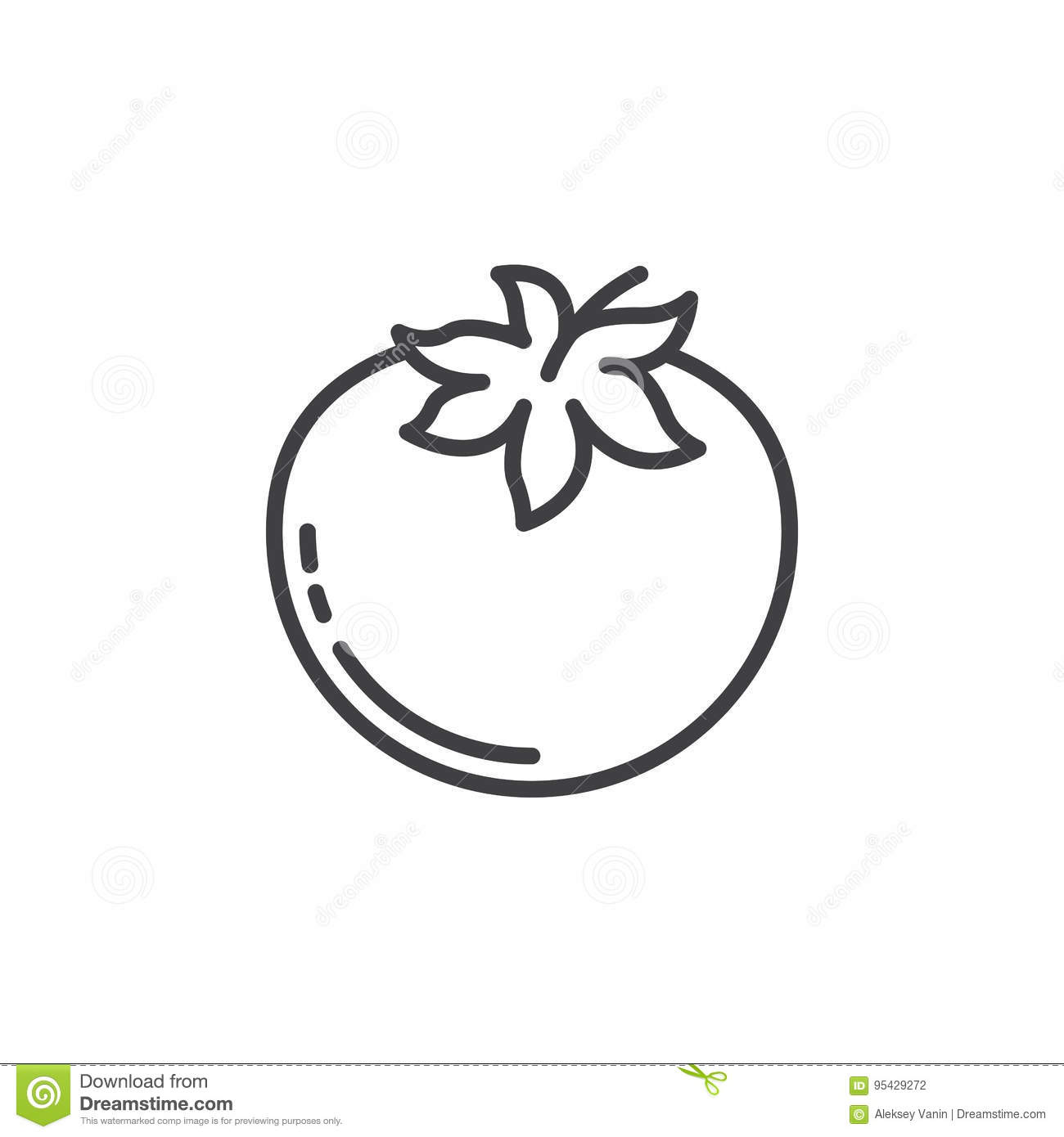 Tomato Line Icon Outline Vector Sign Linear Pictogram