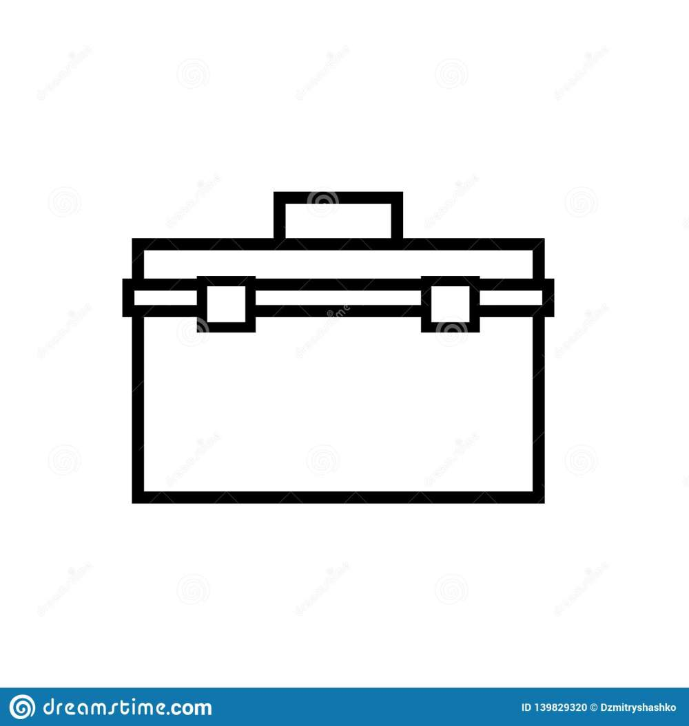 medium resolution of toolbox outline icon clipart image isolated on white background