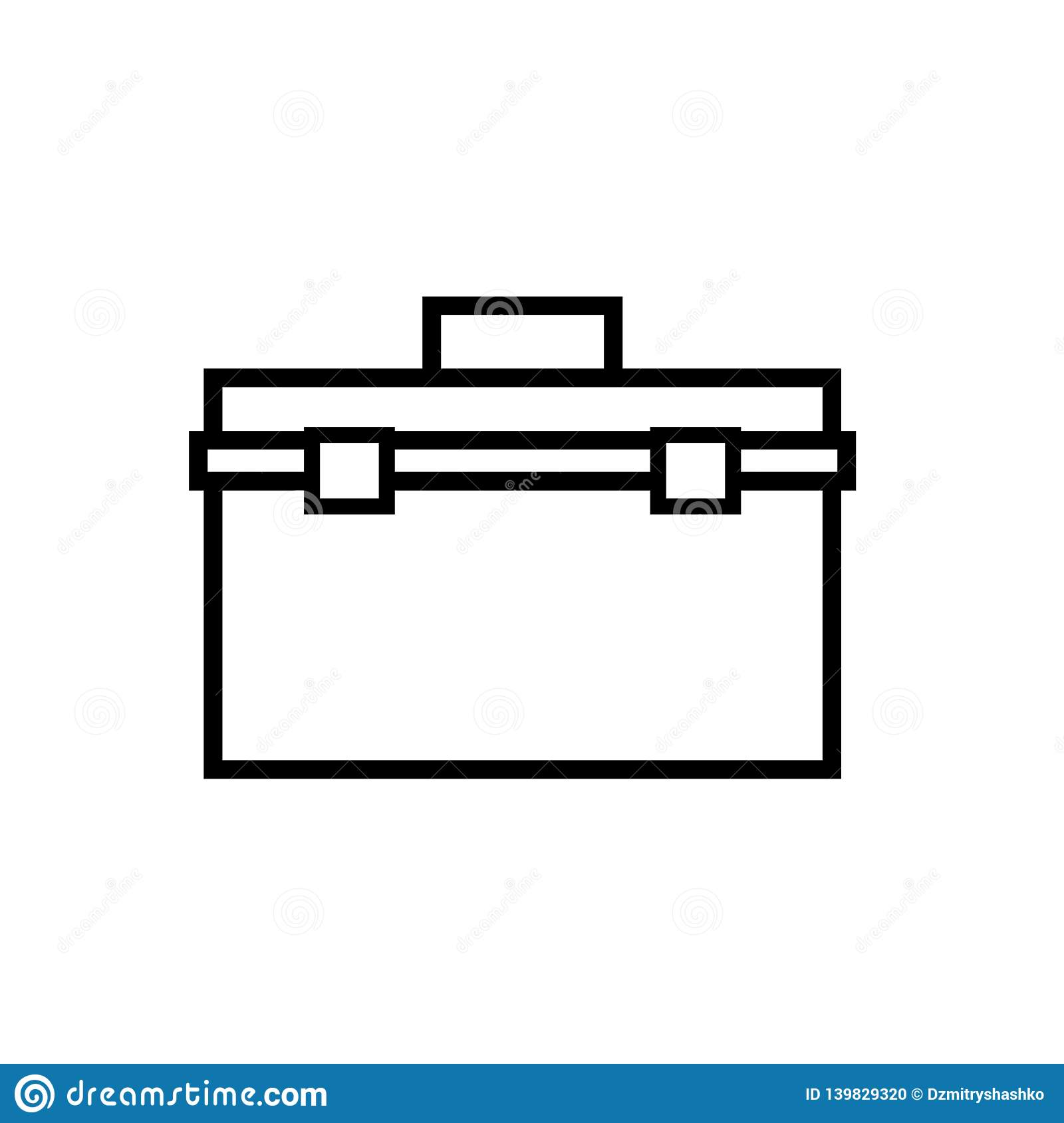 hight resolution of toolbox outline icon clipart image isolated on white background