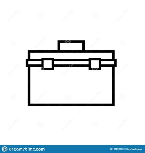 small resolution of toolbox outline icon clipart image isolated on white background