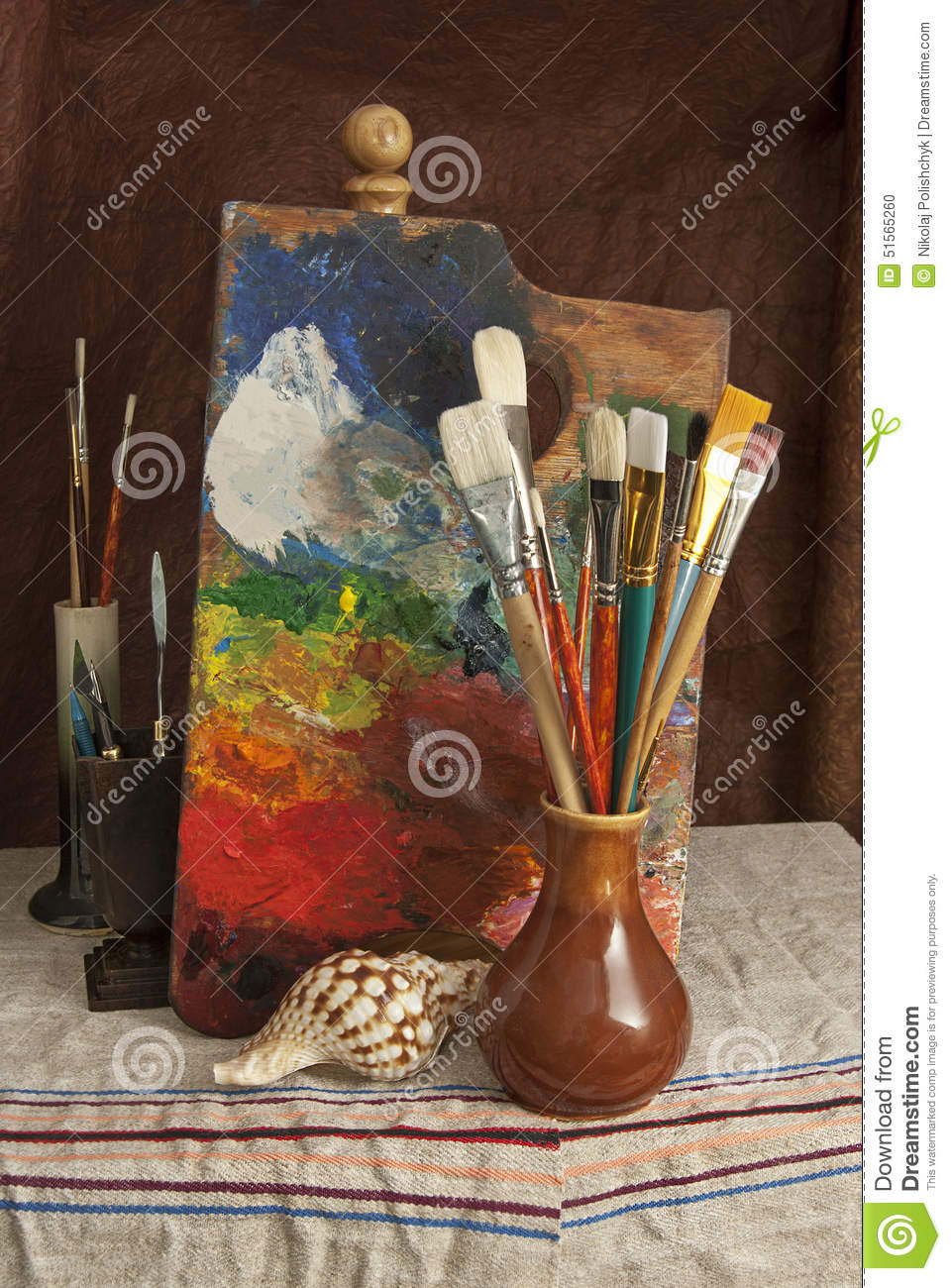 Tools Of The Artist Painter Stock Photo Image Of