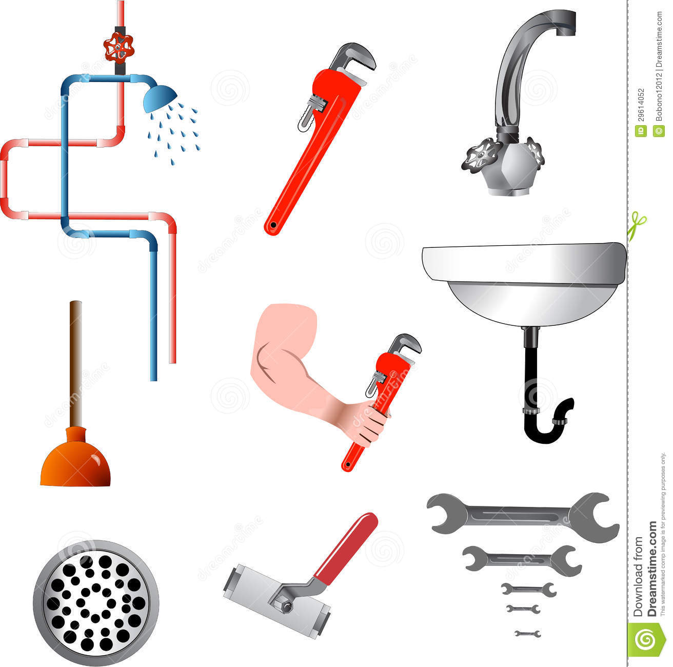 Tools And Plumbing Equipment Stock Illustration Illustration Of Miscellaneous Tools 29614052