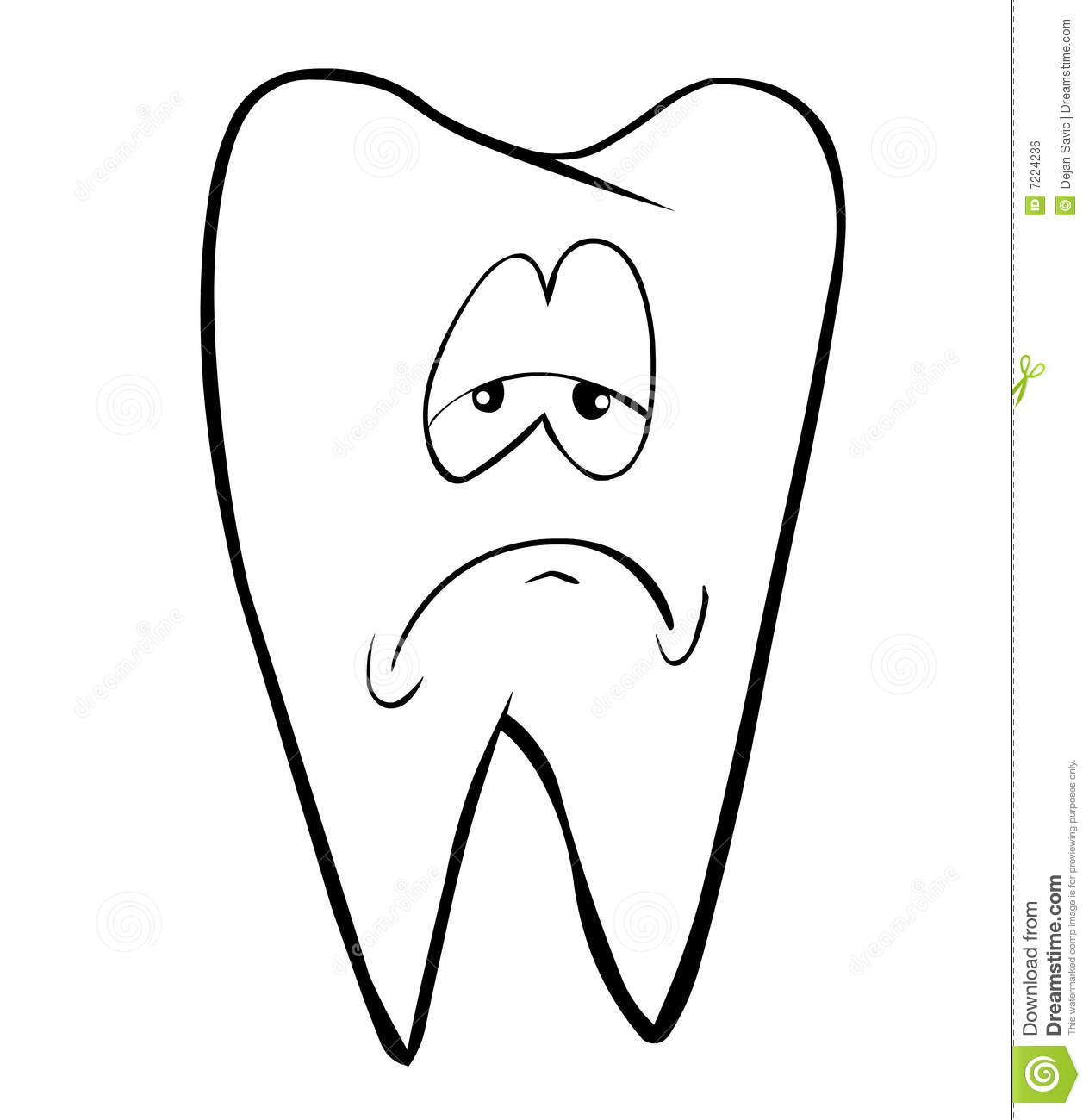 Tooth stock illustration. Illustration of card, character