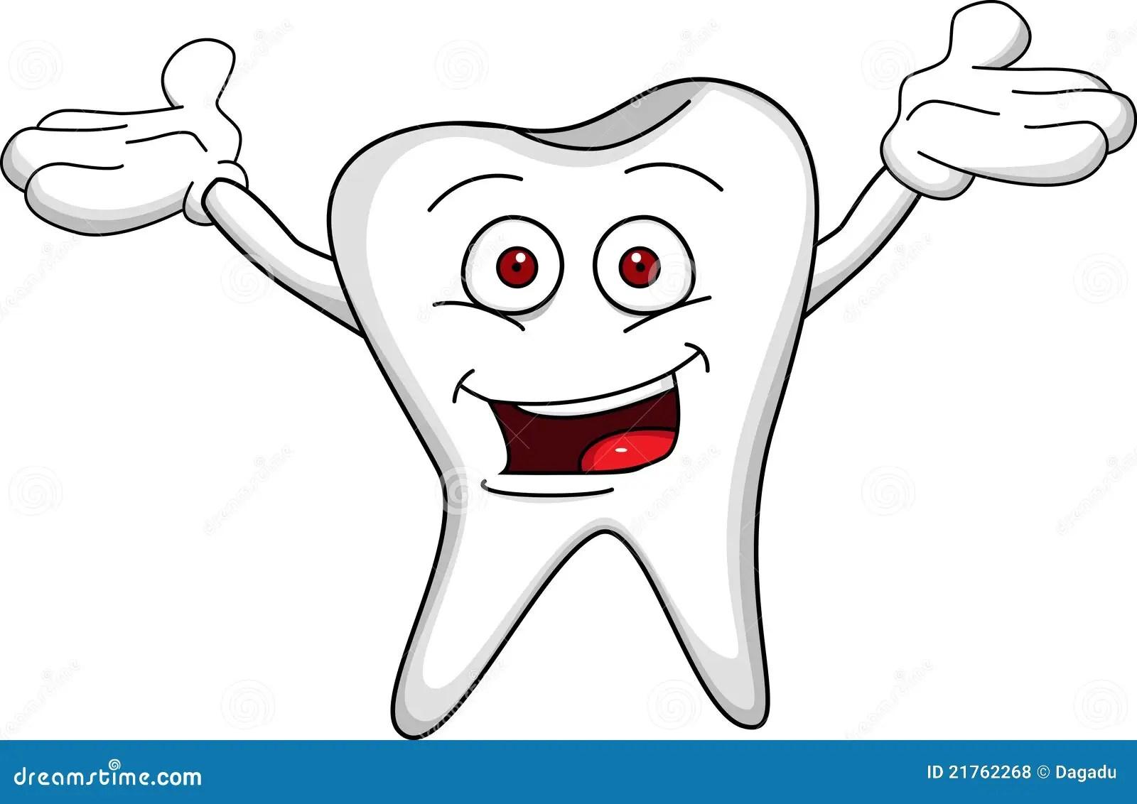 Tooth Cartoon Stock Vector Illustration Of Molar Dentist