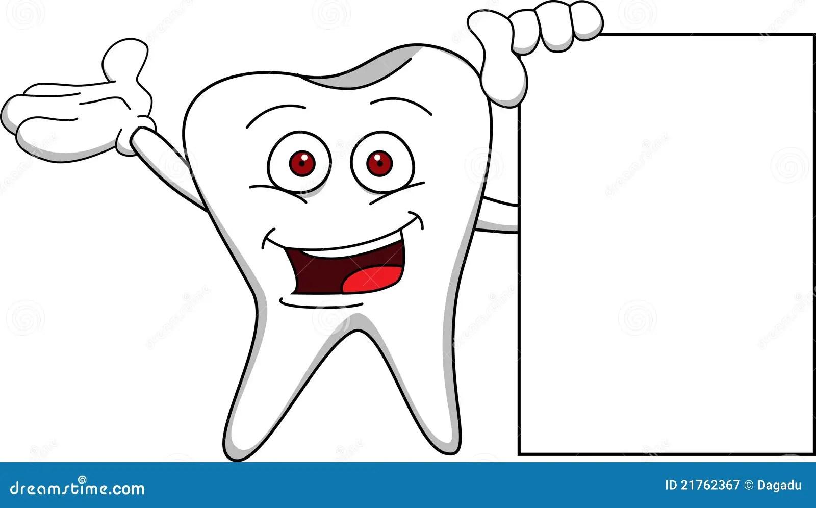 Tooth Cartoon Stock Vector Illustration Of Blank Dentist