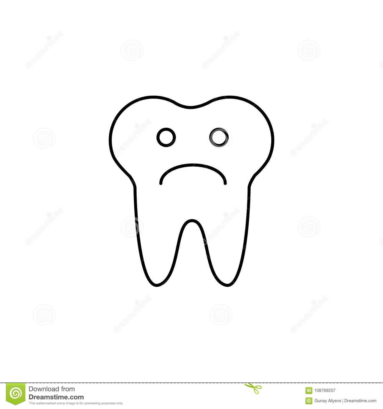 Teeth Chart Tooth Cartoon Vector