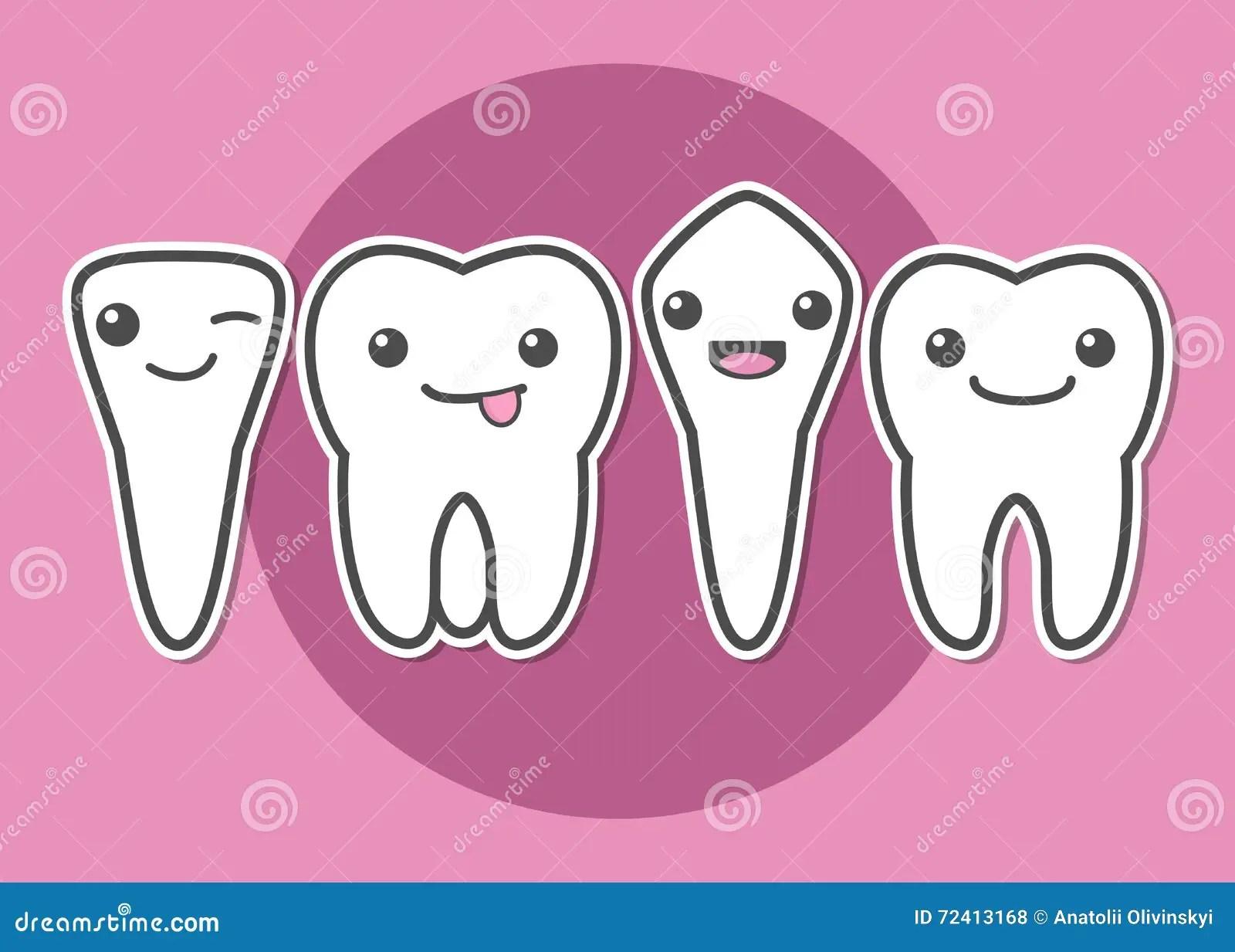 Tooth Types Illustration Stock Illustration Illustration