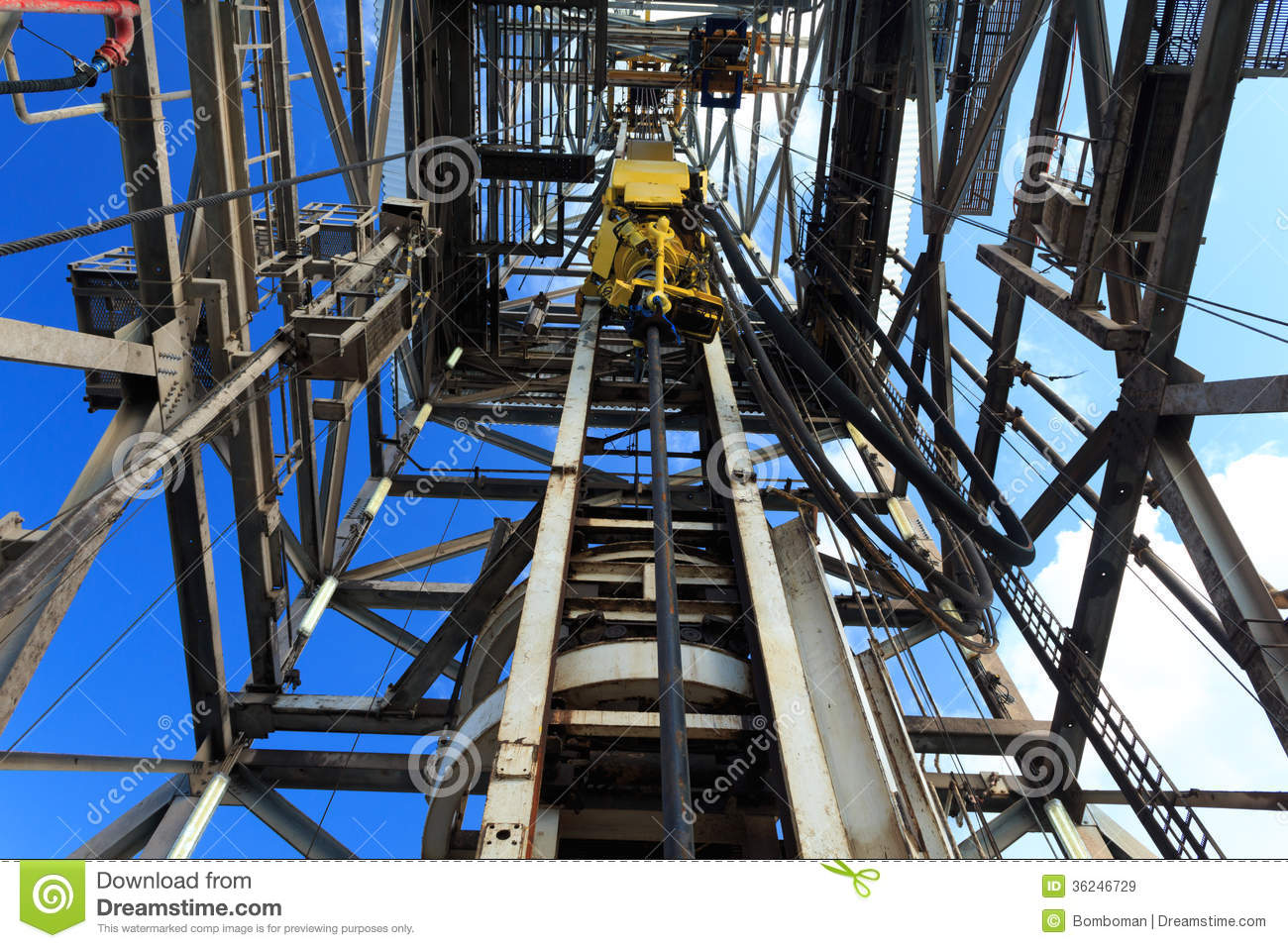 Top Drive System Tds Spinning For Oil Drilling Rig Stock
