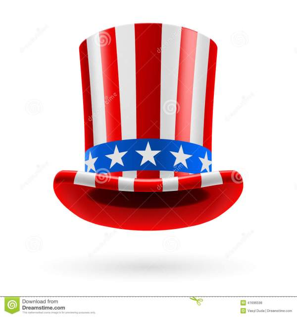 Top Hat Of Flag Stock Vector. Illustration
