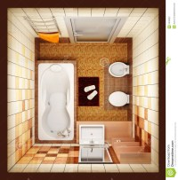 Top View Of An Interior Rendering Of A Living Room Stock ...