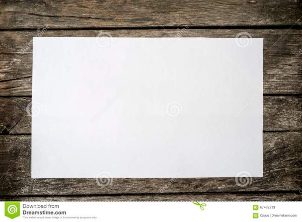 Top View Of Blank White Piece Paper Stock - Sheet Desk 67487213
