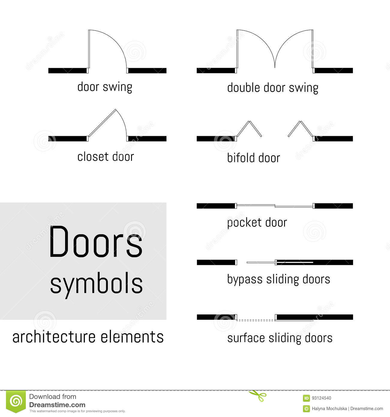 Top View Construction Symbols Used In Architecture Plans