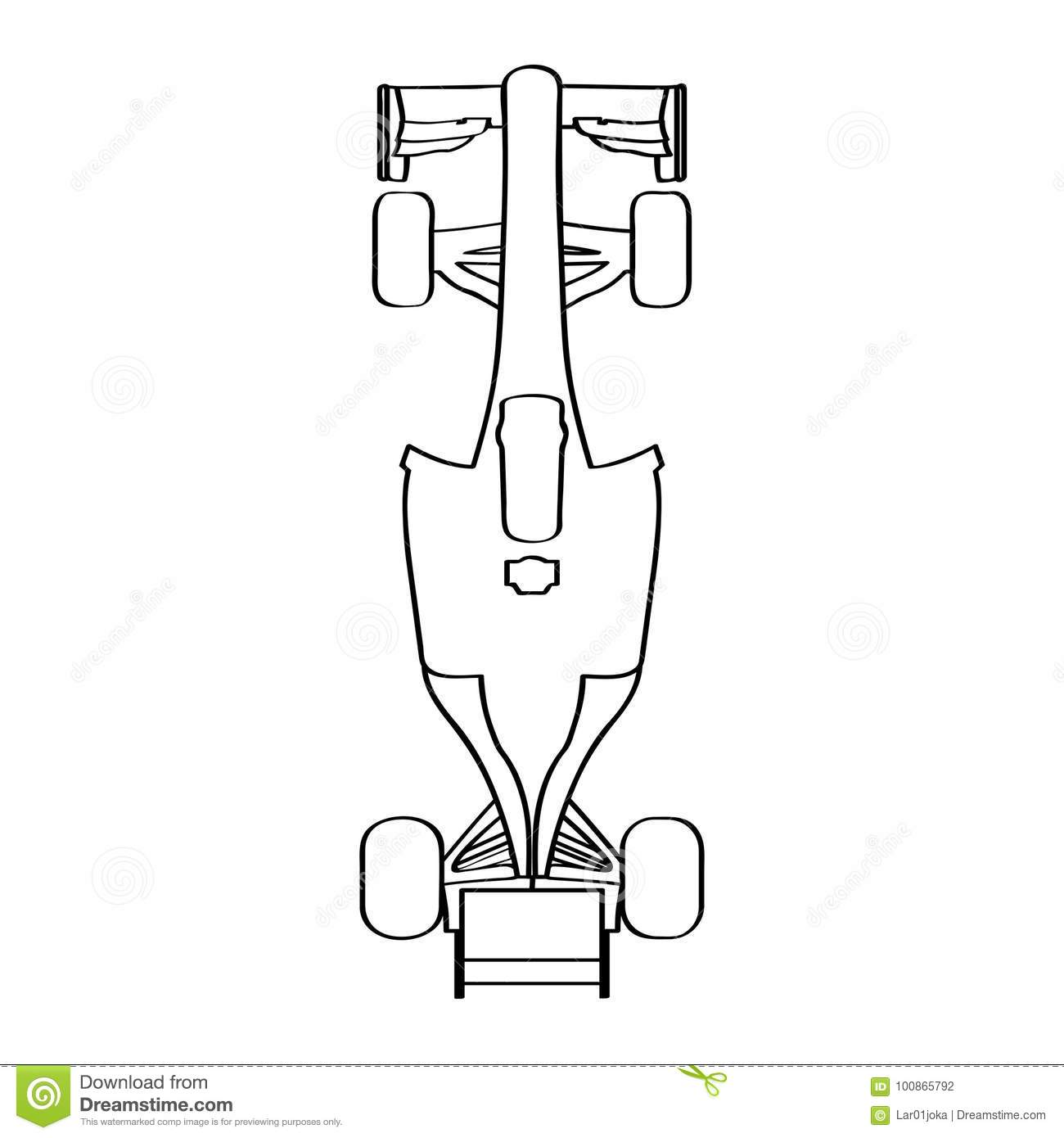 hight resolution of top view of a racing car