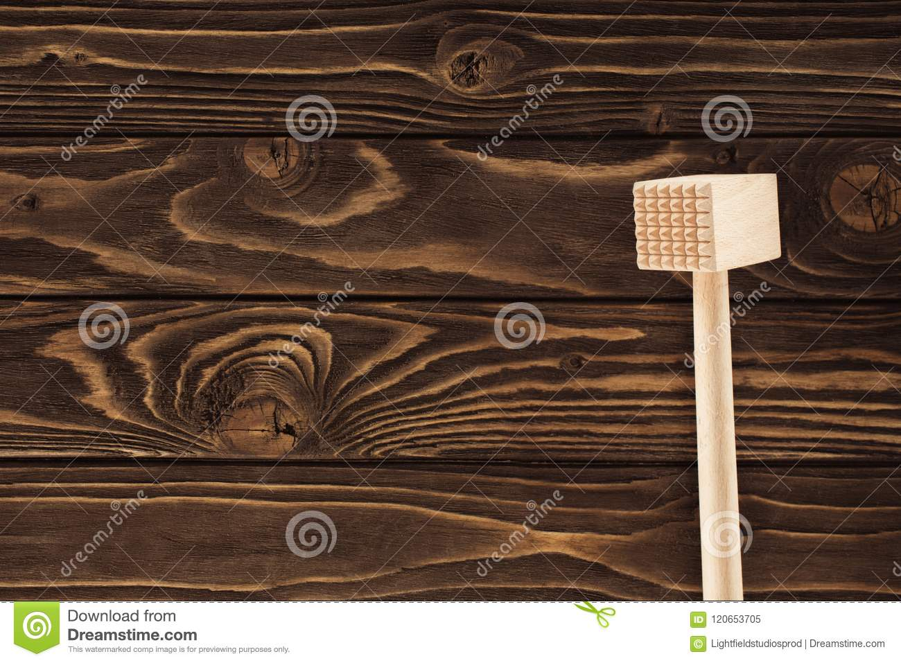 top view of wooden