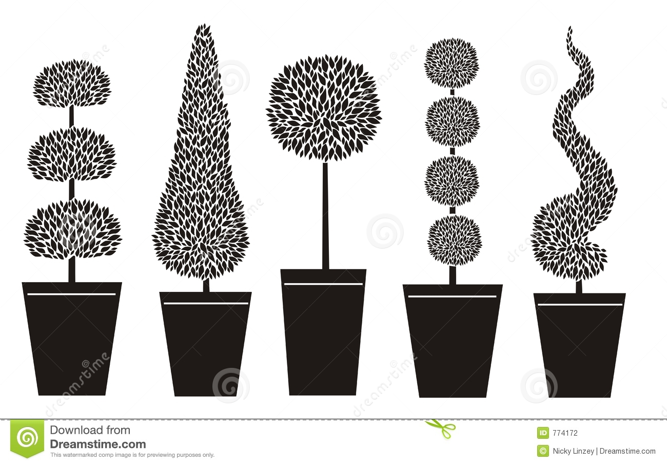 Topiary Shapes Stock Photography