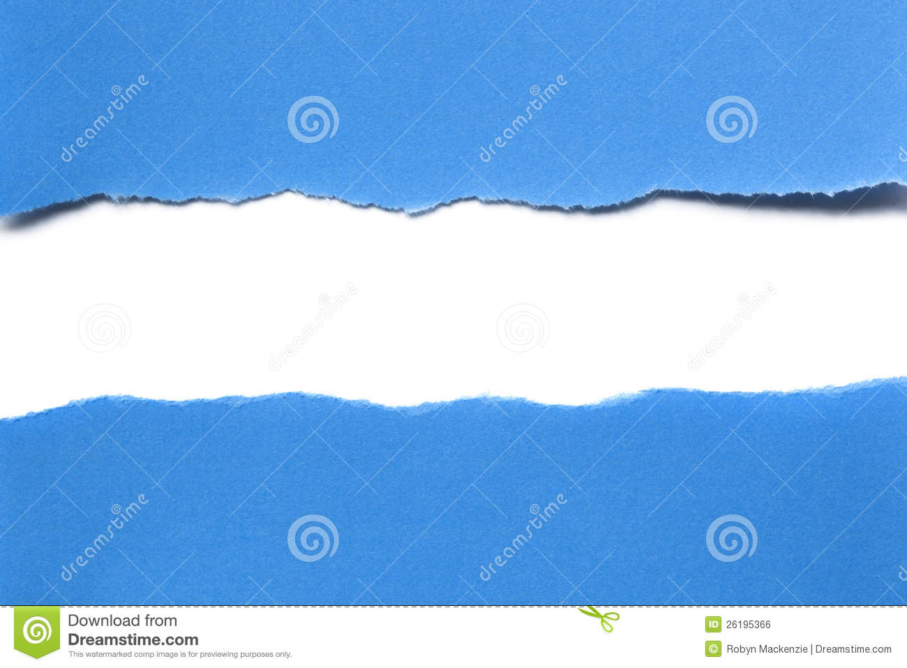 Cute Rose Wallpaper Free Download Torn Blue Paper With White Strip Royalty Free Stock Image