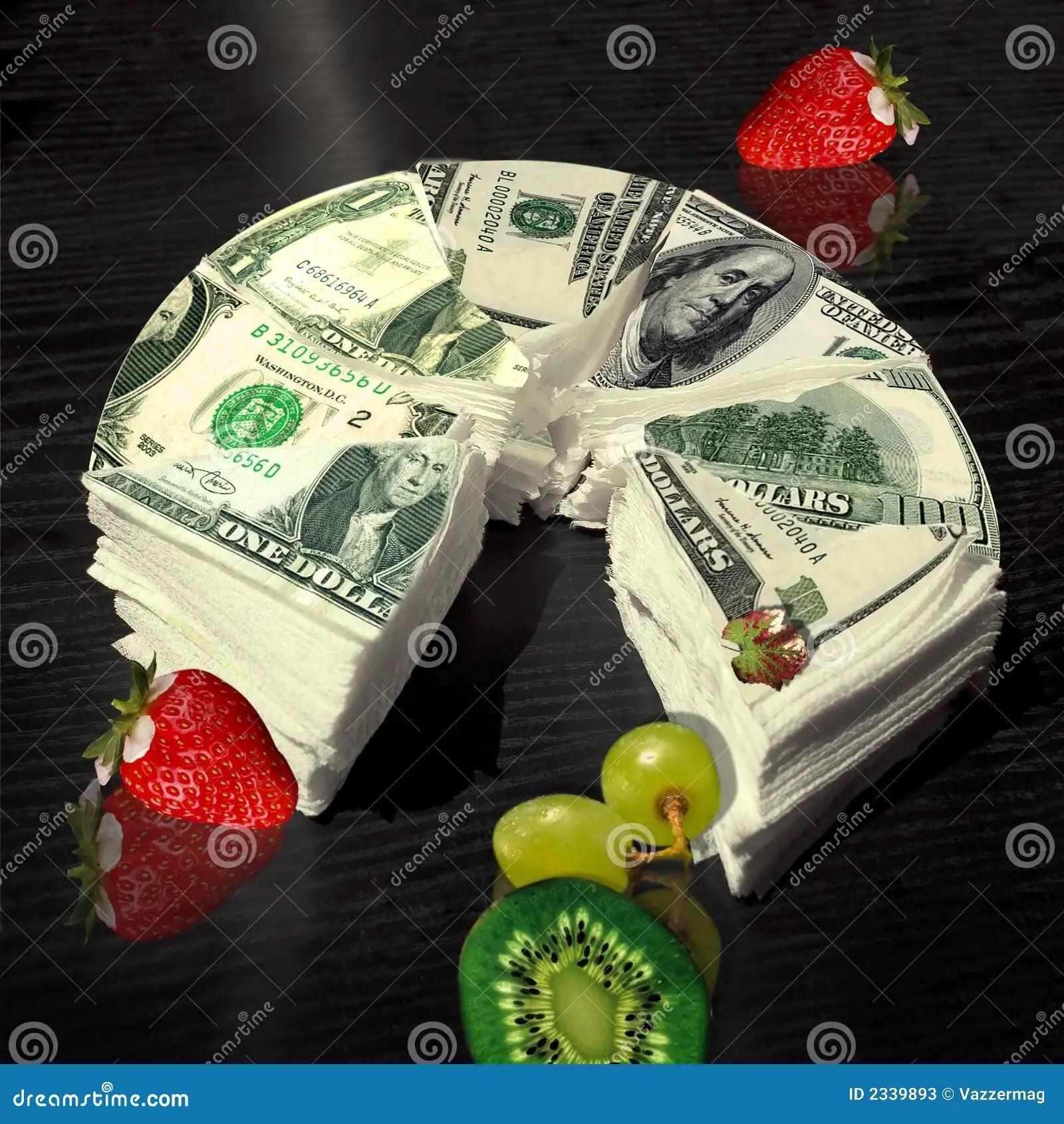 TORTA DEI SOLDI immagine stock Immagine di foglio banconota  2339893