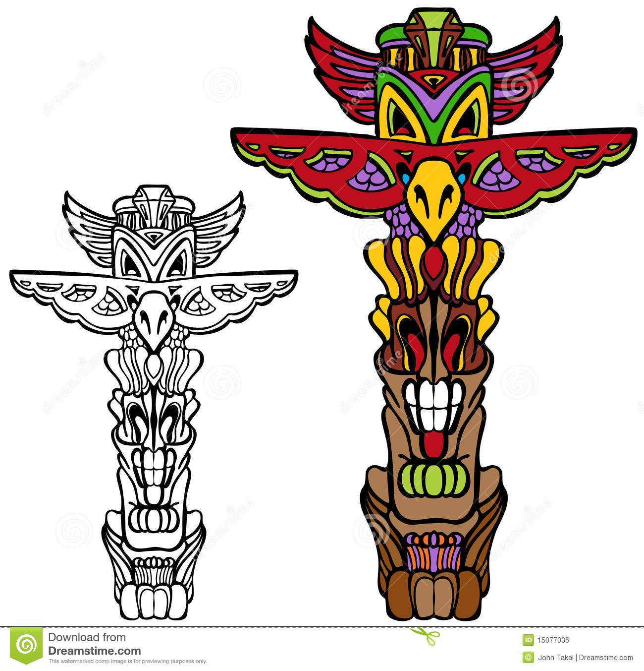 hight resolution of totem pole stock illustrations 850 totem pole stock illustrations vectors clipart dreamstime