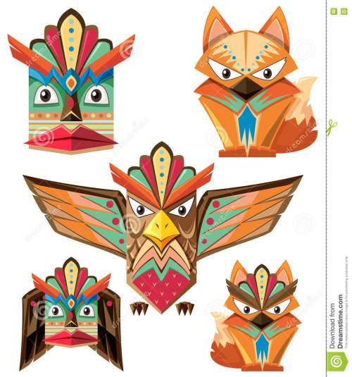 small resolution of totem pole design with animals