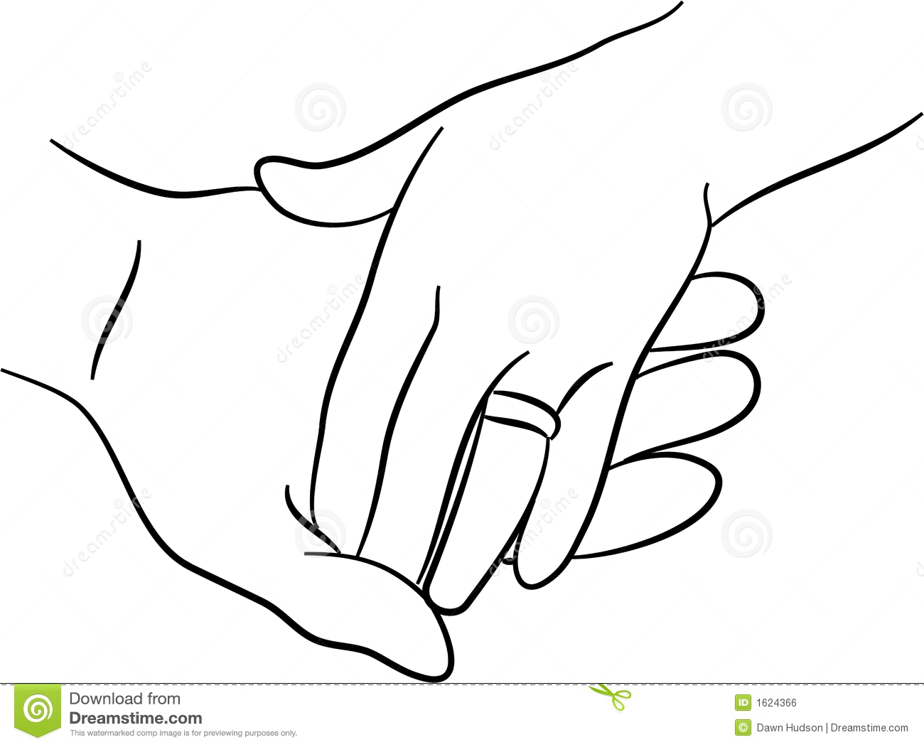 Touching hands stock illustration. Illustration of safety