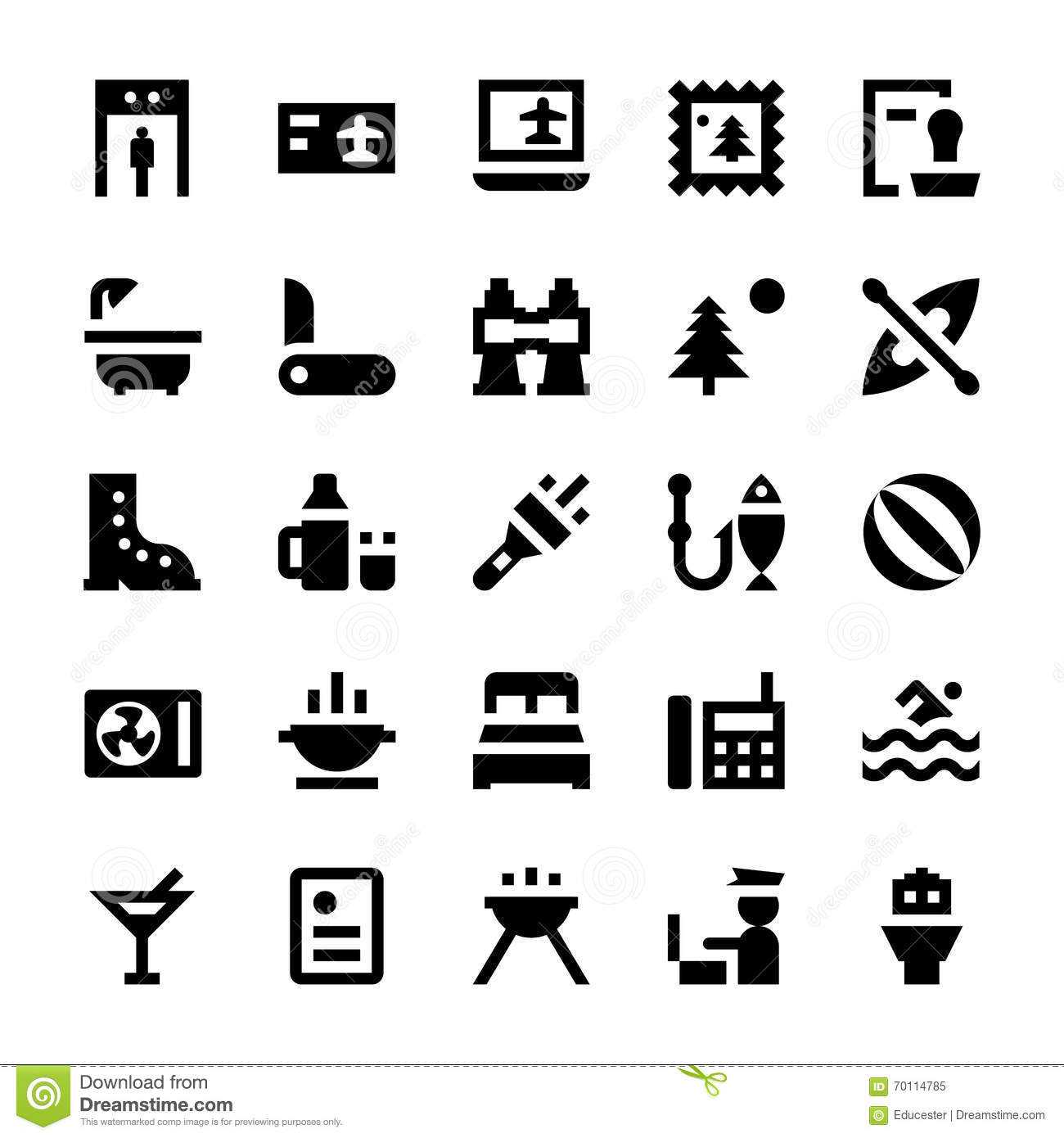 Tourism And Travel Vector Icons 6 Stock Illustration
