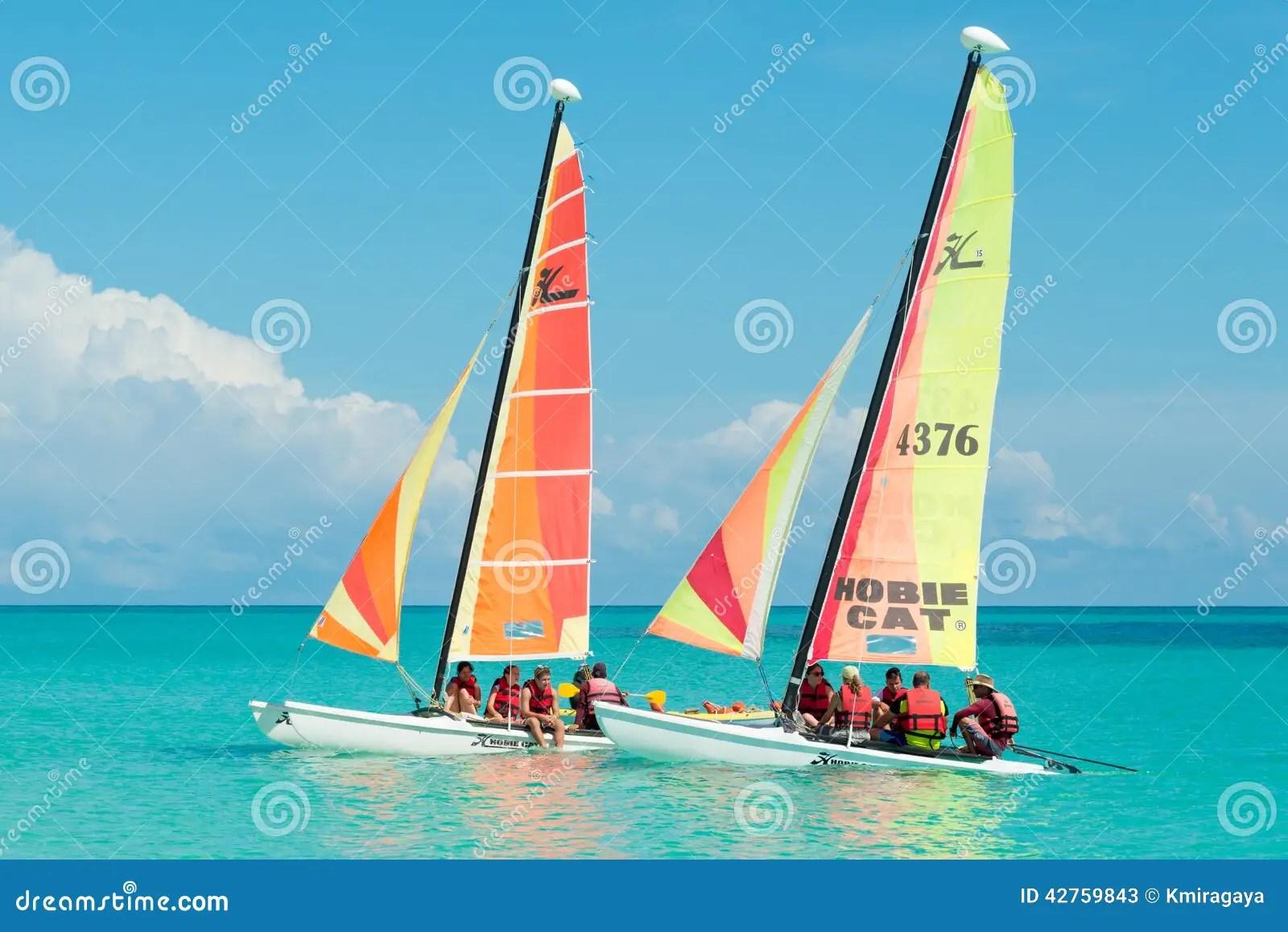 Tourists Sailing In Cayo Santa Maria In Cuba Editorial