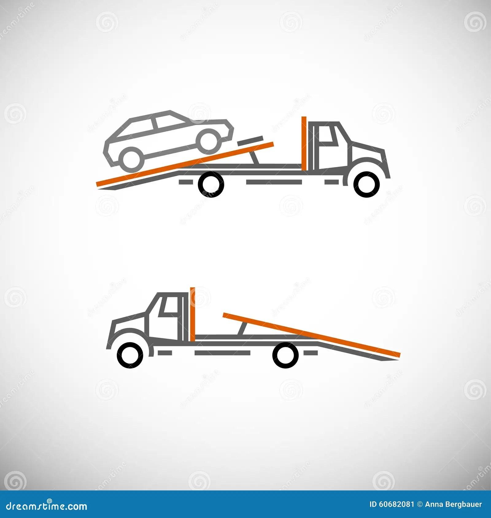 tow truck stock vector