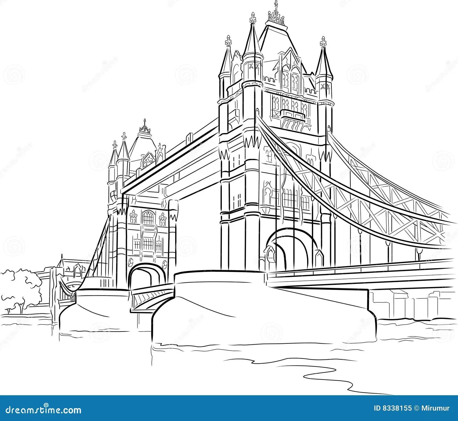 Tower Bridge In London Stock Vector Illustration Of