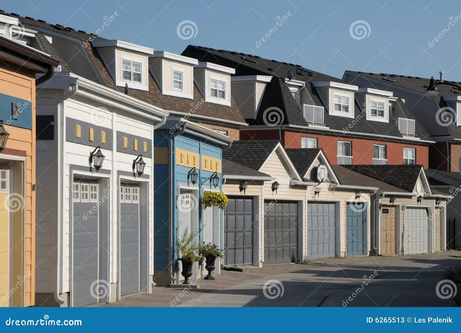 Townhouses With Garage Doors Stock Photos  Image 6265513