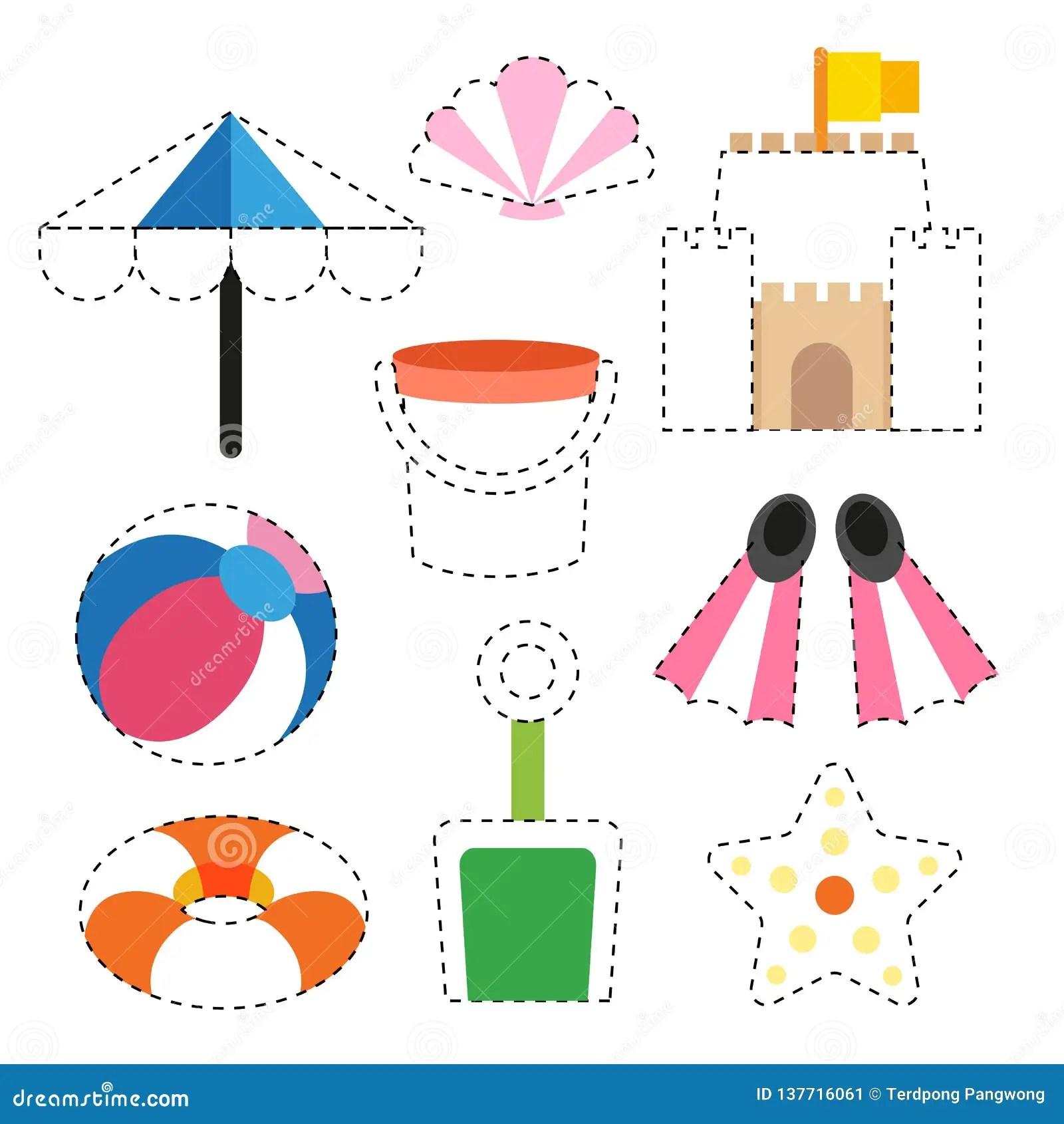 Toy Worksheet Vector Design Stock Vector