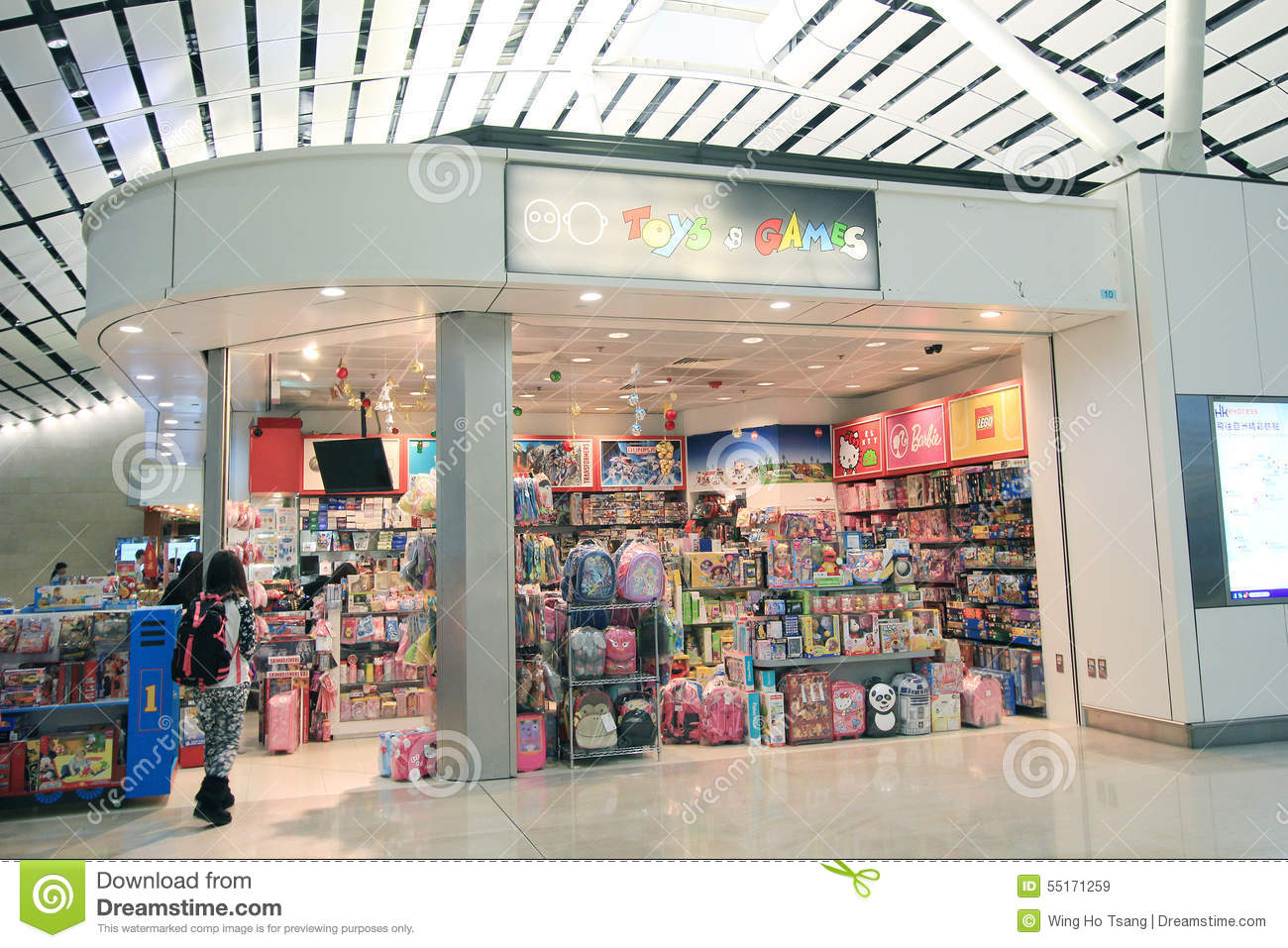 Toys And Games Shop In Hong Kong International Airport Editorial Stock Image - Image ...