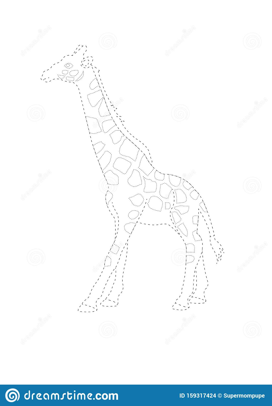 Trace And Color Giraffe Giraffe Tracing Worksheet Game