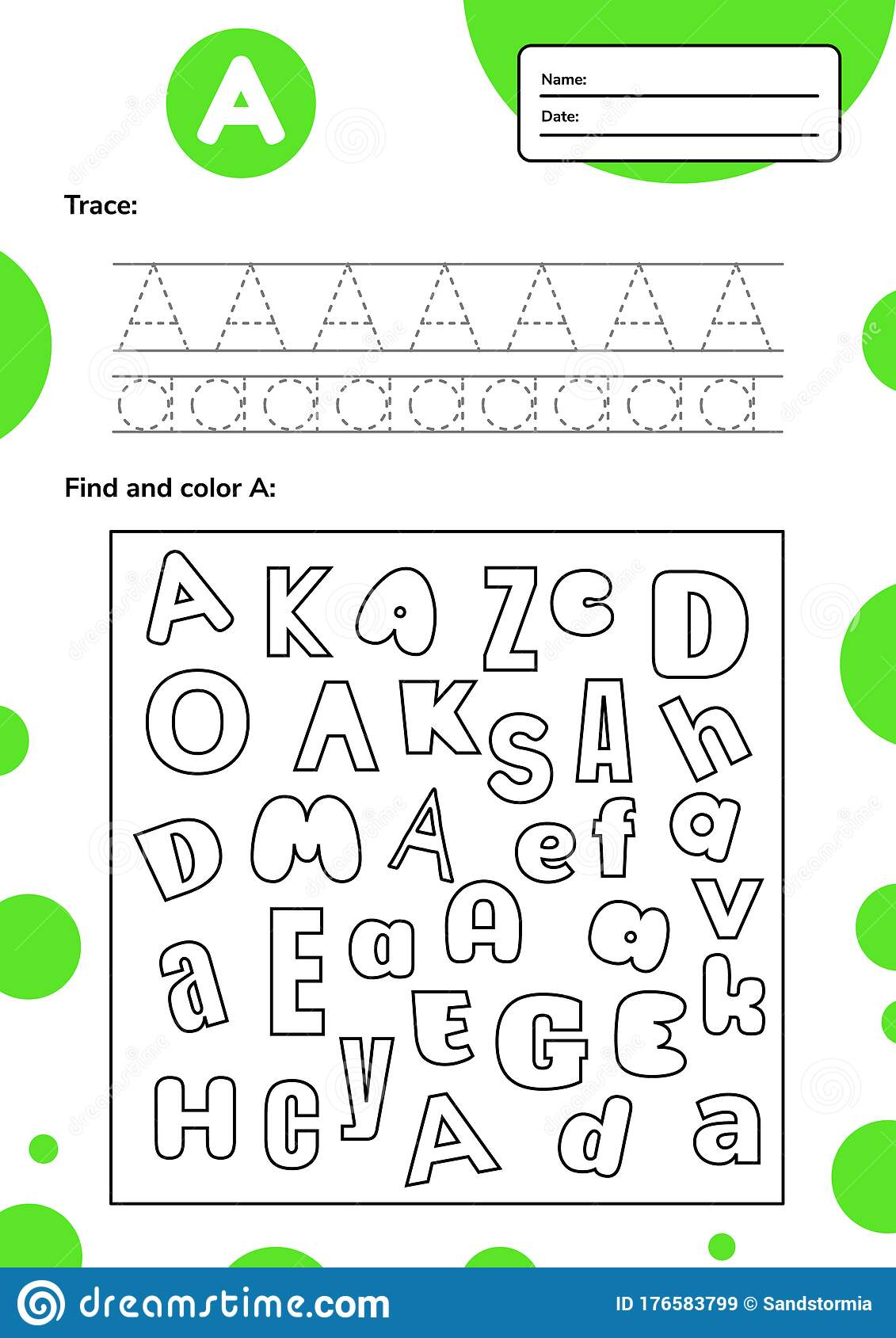 Trace Letter Worksheet A4 For Kids Preschool And School