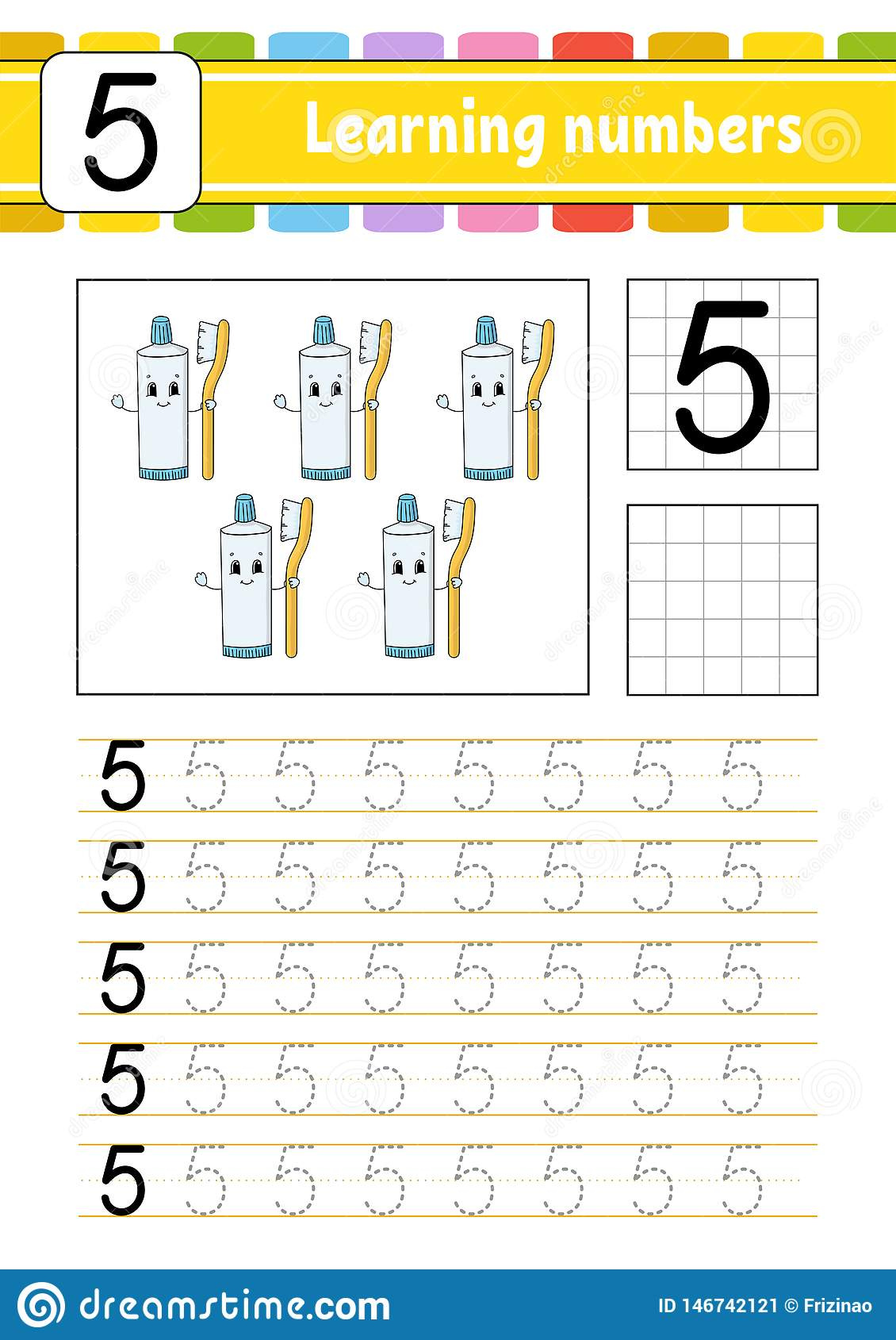 Trace And Write Handwriting Practice Learning Numbers