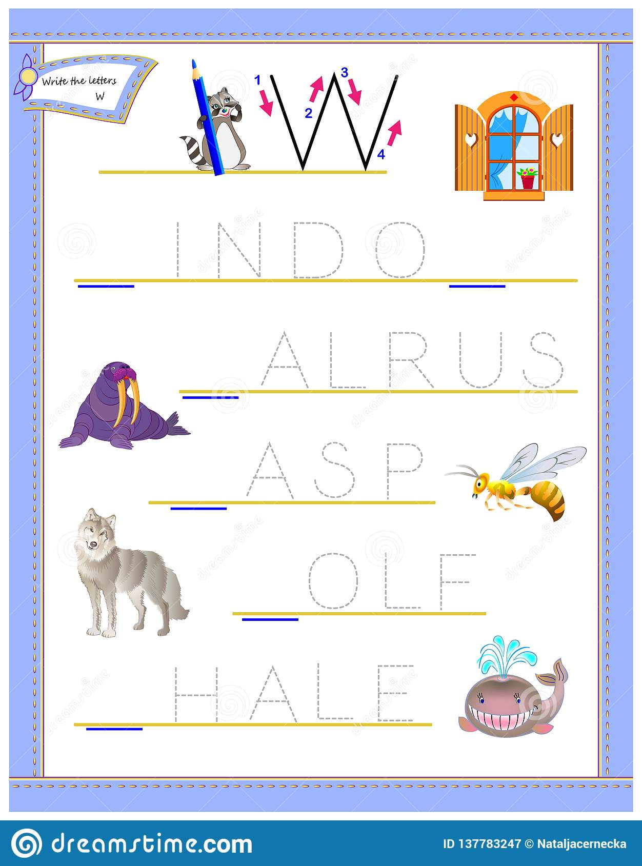 Tracing Letter W For Study English Alphabet Printable