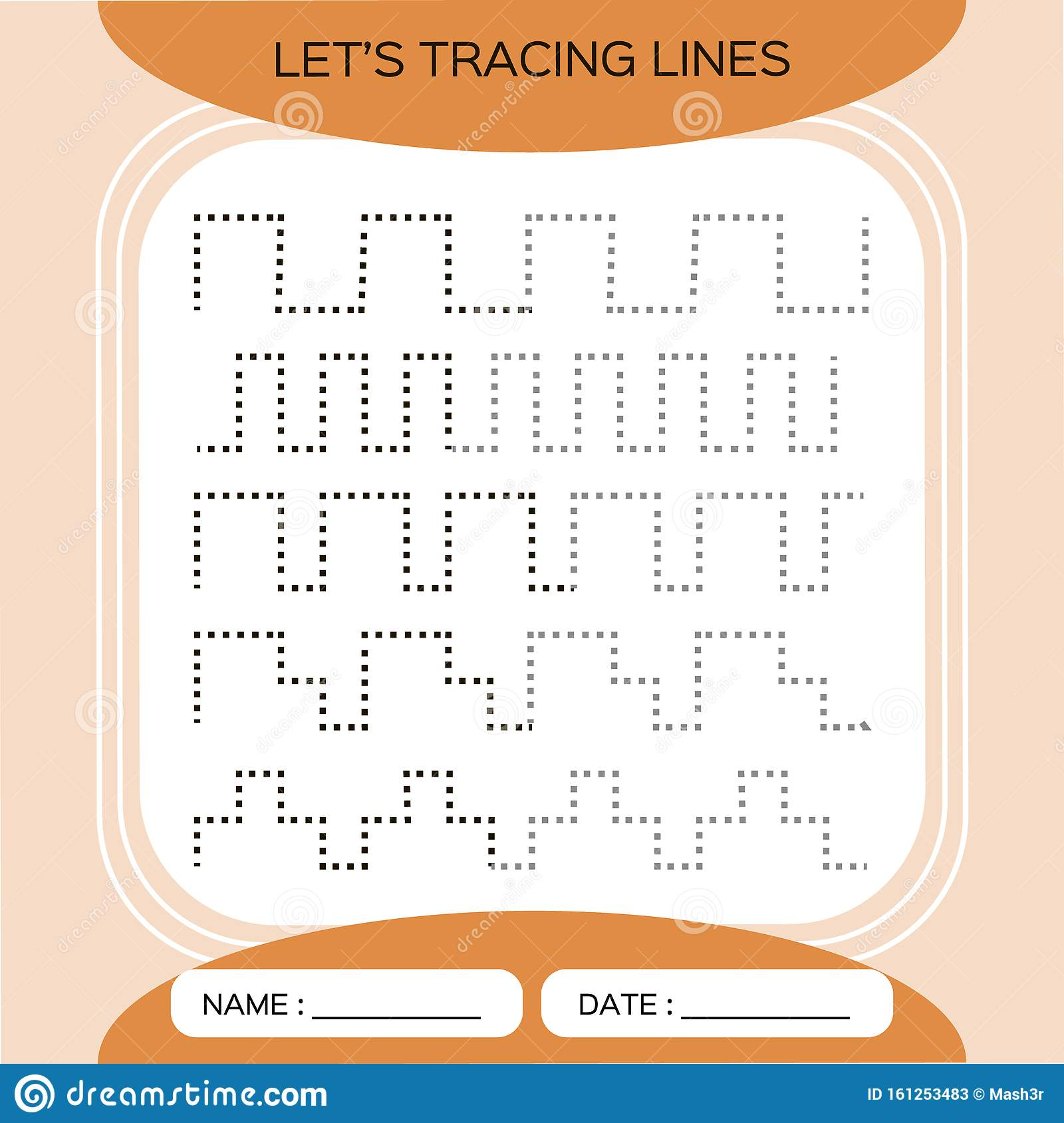 Tracing Lines Activity For Early Years Preschool
