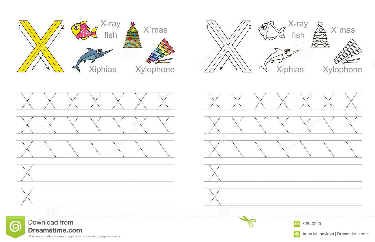 X Worksheet For Kindergarten