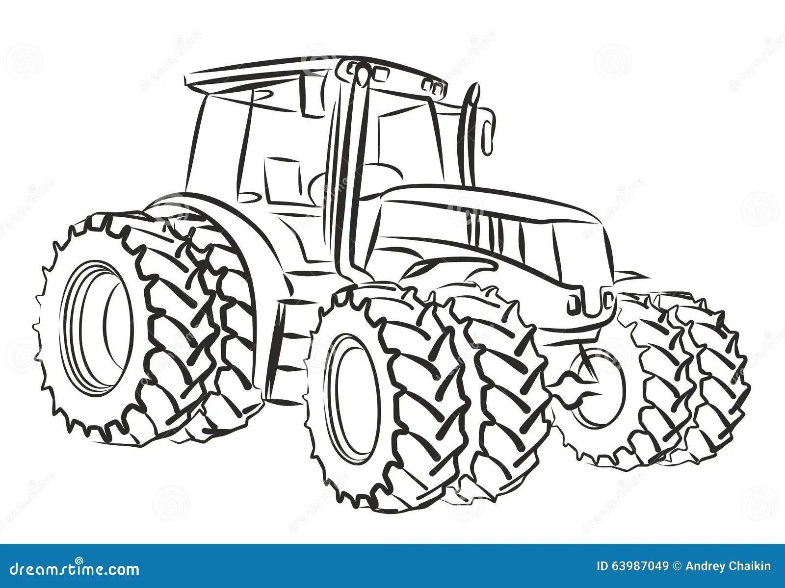 Tractor Vector Illustratie Illustratie Bestaande Uit