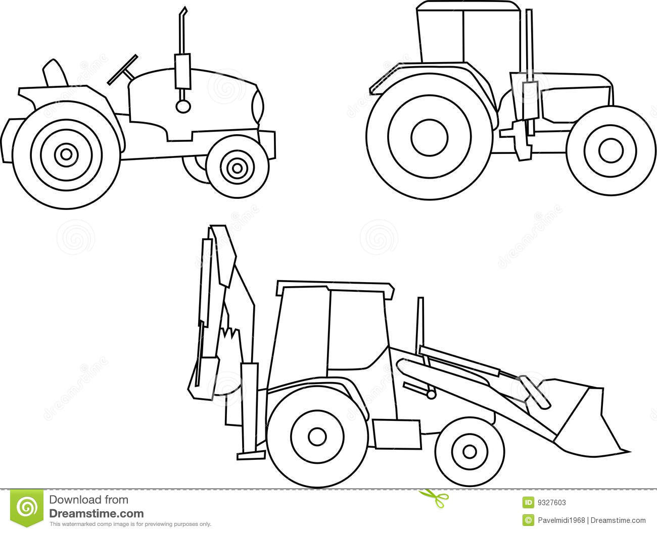 Tractor Stock Illustration Illustration Of Machinery