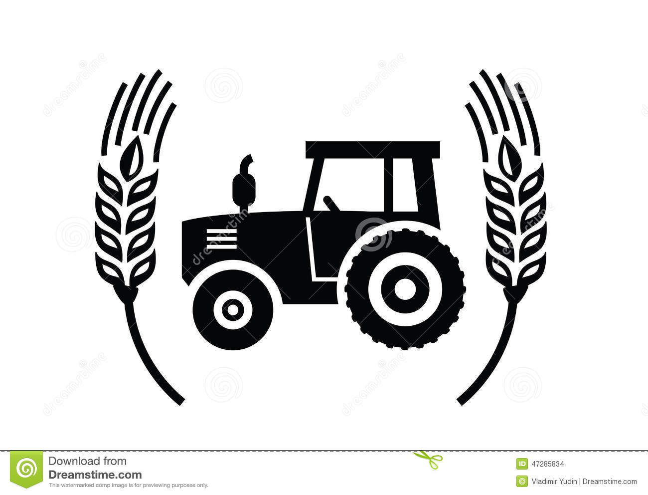 Tractor Icon Stock Vector