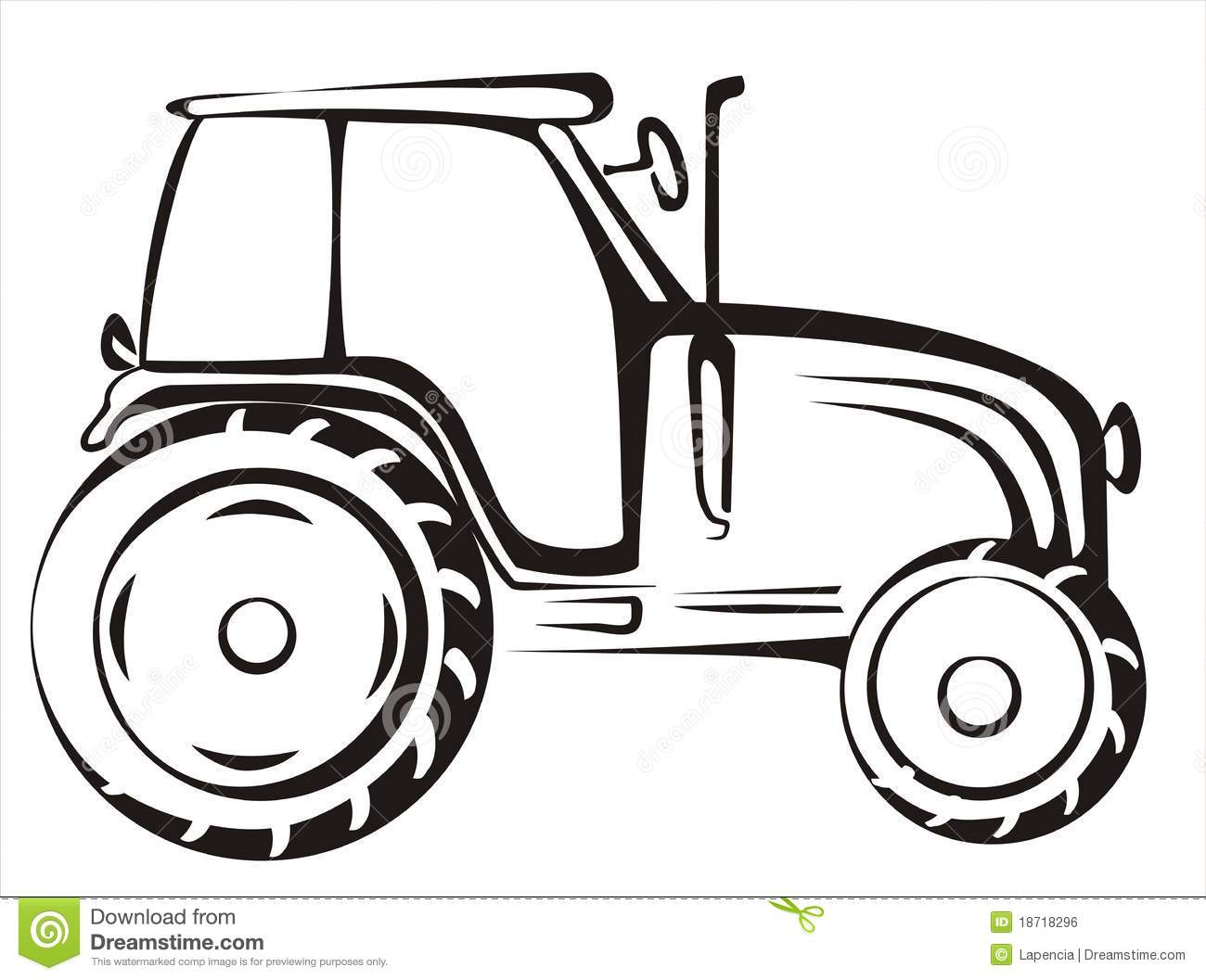 Tractor Isolated Vector Illustration Stock Vector