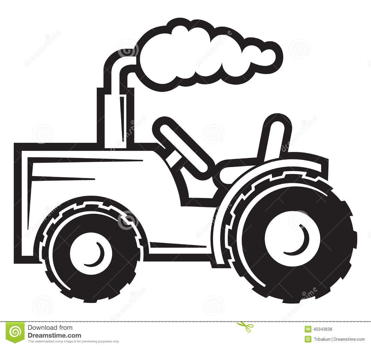Tractor stock vector. Image of road, drive, field, farmer