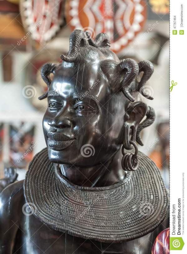 Traditional African Sculpture - Woman' Head Stock